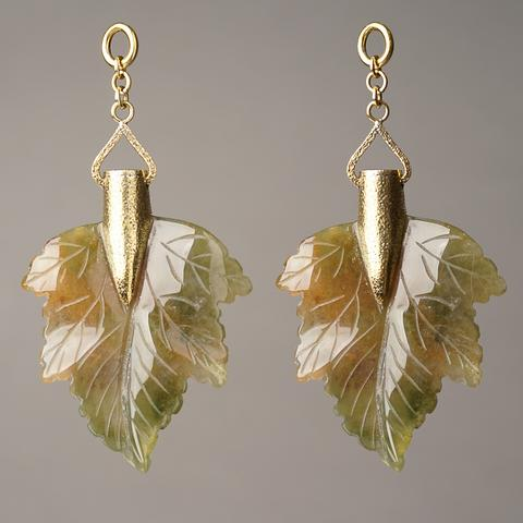 Moss Agate Maple Leaves
