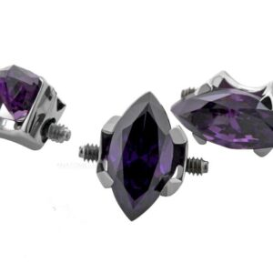 Double Side-threaded Marquise Ends