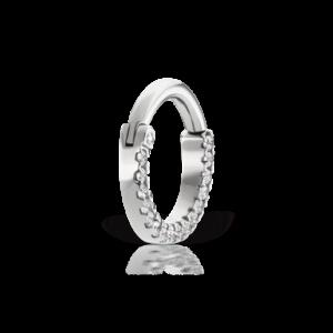 Cubic Zirconia Titanium Horizontal Eternity Clicker