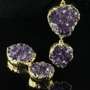 Amethyst Rough Cut Double Druzy