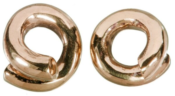 Rose Gold Plated Spiral Weights