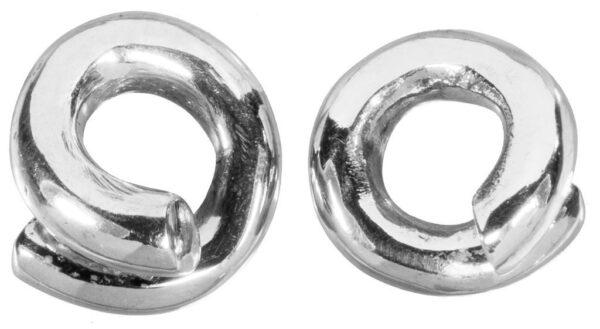 White Brass Plated Spiral Weights