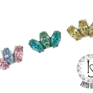 "Odyssey ""Marquise"" Faceted Gem end"