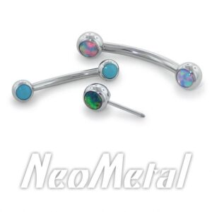 Curved Side-Gem Barbells